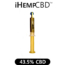 ORGANIC GOLD 43.5% CBD HEMP OIL in standing tube gold container