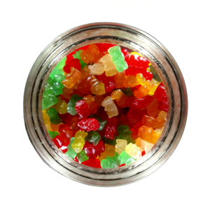 IHEMPCBD FLAVORED GUMMIES in jar