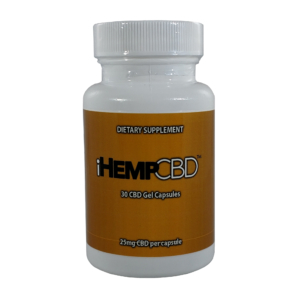 IHEMPCBD GELATIN CAPS 30 (25MG) CAPSULES in white bottle
